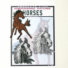 HORSES Set of 4 Horse Patches - Iron-On Patch Super Set #090 - FREE POSTAGE!