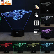 Star Trek USS Enterprise 3D Acrylic LED Night Lights Touch able Desk Lamp Gifts