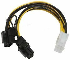 PCI-Express 6 Pin to 2 x 8 Pin 6+2 Video Card Y-Splitter Cable CB-YPCIE-628
