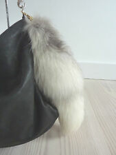 "DOLCE GABBANA RARE & RICH CLIP ON WHITE / NUDE FOX'S TAIL 18.5"" RRP £700"