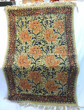 "Cotton Rug - Traditional Indian Design - BNWT - 24"" x 36"" / 60cm x 90cm"