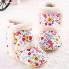 Infant Girls Boys Baby Shoes Walker Crib Prewalker Shoes Warm Winter Boots 12@