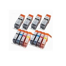 12 pk Ink Cartridge Comp for Canon CLI-221 PGI-220 PIXMA MP620 MP620B printer