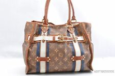 Auth Louis Vuitton Monogram Tisse Rayure GM Shoulder Tote Bag M56385 LV 28231