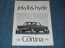 "1965 Ford Cortina GT Vintage Ad ""Meet Jekyll & Hyde"""