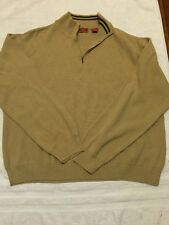 IZOD Luxury Sports Men's Long Sleeve half Zip Sweater 2XL XX Large Light Brown