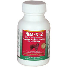 Nemex-2 Canine Anthelmintic Suspension (pyrantel pamoate) Dog Worm Meds NEW!