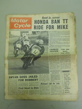 Motor Cycle Newspaper, March 6, 1968, Honda Ban TT Ride for Mike.   MCNP 68