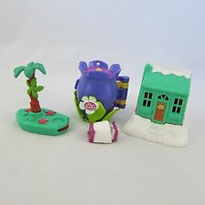Polly Pocket Lot: Christmas Ski Lodge, Bed, Palm Tree, & Garden Bloom House
