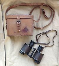 Original Pre WW2 British Army No 3 Mk II Ross Graticule Binoculars & Case -1935