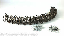"x5  24"" UPHOLSTERY ZIG ZAG METAL SOFA CHAIR SETTEE SPRINGS REPLACEMENT"