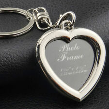 Unique Heart Shaped Photo Frame Pendant Keychain Keyfob Keyring Love's Gift