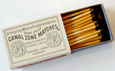 ANTIQUE Vintage PANAMA CANAL ZONE Swedish MATCHBOX & LABEL Safety Matches UNUSED
