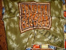 MUSEUM COMPANY BRAND EGYPTIAN HIEROGLYPHIC STYLE DESIGN SCARF MADE OF 100% SILK!