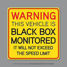 SKU2328 - Black Box Monitored - Young Driver Car Warning Sticker Decal