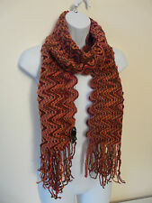 NEW MONSOON ACCESSORIZE LADIES PURPLE PINK ORANGE MOHAIR SOFT KNIT TASSEL SCARF