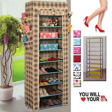 BRAND NEW 10 LAYER TIER SHOE CABINET RACK SHELF FREE STANDING STORAGE ORGANISER