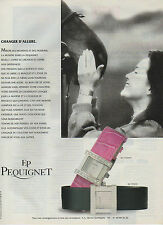 Publicité Advertising  ///   montre EP PEQUIGNET
