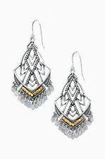 Authentic Etoile Chandeliers Silver Drop Earrings Metal Tassel Earrings