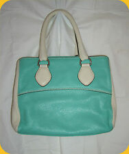 Ladies Abro Soft Teal Leather Handbag Satchel Crossbody