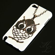 Apple iPod Touch 5 5G Hard Case Schutz Hülle Motiv Etui Cover Kette Eule Owl