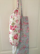 ❤️Cath Kidston Ikea White Rosali Fabric Carrier Bag Holder❤️