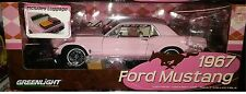 1967 Ford Mustang Coupe Diecast Car 1:18 Greenlight 10 inch Pink 12966 Luggage