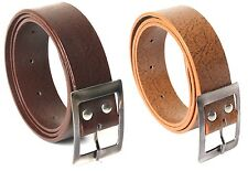 Combo of 2 Casual Belts Brown and Orange Color Self Textured with Free Shipping