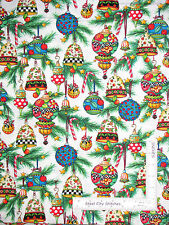 Christmas Mary Engelbreit Ornament Toss Cotton Fabric QT 23967 Trim Tree - Yard
