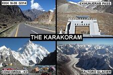 SOUVENIR FRIDGE MAGNET of THE KARAKORAM PAKISTAN & CHINA & INDIA