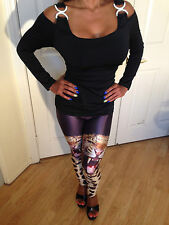My Fav Sexy Party Clubbing Panther/ Leopard Leggings in Size Small