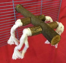 Bird Perch Wood Rope 8 Inch X 25mm Budgie Finch Canary Cockatiel Parakeet Parrot