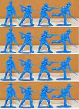 Call to Arms C.S.A. Infantry - 16 blue color 54mm unpainted plastic toy soldiers