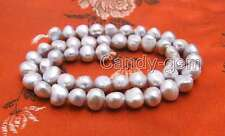 SALE 8-9mm Gray Baroque Natural Freshwater Pearl Loose Beads Strand 14''-los719