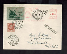 1945 La Baul St Nazaire France Cover Local Issues and Meter Liberation