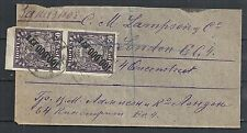 Russia ovpt PAIR on cover to London  RARE on cover!