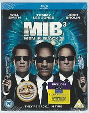 MIB3 Men In Black 3 Blu-ray Will Smith Tommy Lee Jones Josh Brolin New/Sealed