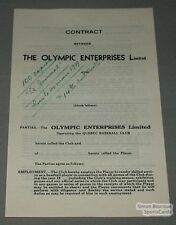1939 Quebec Athletics Baseball Blank Player's Contract