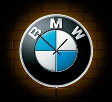 BMW BADGE LED LIGHT UP WALL LIGHT NOVELTY CLOCK MAN CAVE MECHANICS GARAGE M3 M5