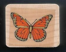 BUTTERFLY Insect Entomology small tag Hero Arts Wood Mount Craft Rubber Stamp