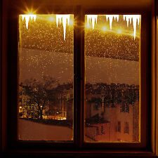 Christmas Decoration ICICLES Window Stickers