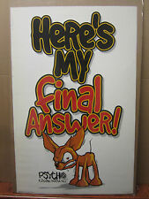 vintage Here's my Final Answer1 Psycho Chiguagua movie Poster 2000 1445