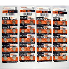 40 NEW LR44 MAXELL A76 L1154 AG13 357 SR44 303 BATTERY
