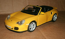 1/18 Porsche 911 Turbo Cabriolet Diecast Model - 2003 Porsche 911 Conv. Yellow