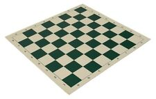 "20"" Vinyl Chess Board – Meets Tournament Standards - Green - 2.25 Inch Squares"