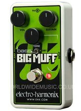 EHX Electro Harmonix Nano Bass Big Muff Distortion Sustainer Guitar Pedal