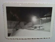 Vintage Photo Black White Old Electric Toy Train Room Set Valley View Station