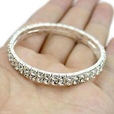 Due Fila Diamante Bracciale,braccialetto Donne Ragazze Gioielli Elasticizzato