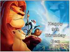 """Lion King Personalised Cake Topper Edible Wafer Paper 7.5"""" By 10"""" A4"""