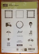 Stampin Up Hostess Postage Collection Clear Mount Lot 16 Rubber Stamps Set